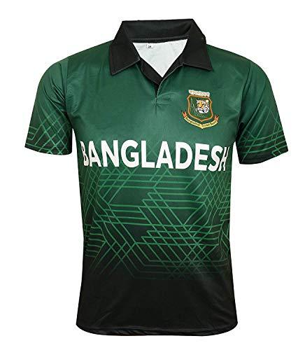 KD WC 19 Cricket Bangladesh Jersey Supporter T Shirt Shakib 75 Custom Print Name No Bangladesh Uniform (Custom,38)
