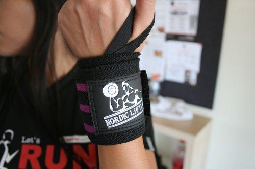 Paquete de muñequeras y correas (2 pares) para levantamiento de pesas, crossfit, entrenamientos, gimnasio, levantamiento de potencia, culturismo, etc., ...