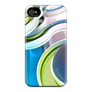 Fashionable Style Case Cover Skin For Iphone 4/4s- Abstract Curve