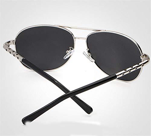 Sunglasses Hombres Gafas Color Film de Moda Polarized los Black Frame XIYANG de Montar Gafas Driving Large Sol Negro XqwqZv7