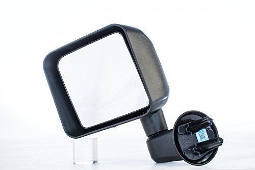 Left Driver Side Door Mirror Jeep Wrangler Textured Non-Heated Folding Outside Rear View Mirror (2007 2008 2009 2010 2011 2012 2013 2014 2015 2016 2017)