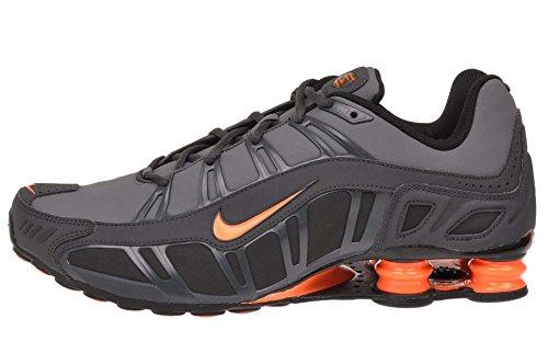 Nike Shox Turbo 3.2 SL Mens Running Shoes Dark Grey/Total Orange-Anthracite-Black 455541-080-9.5 (Orange Shox Shoes)