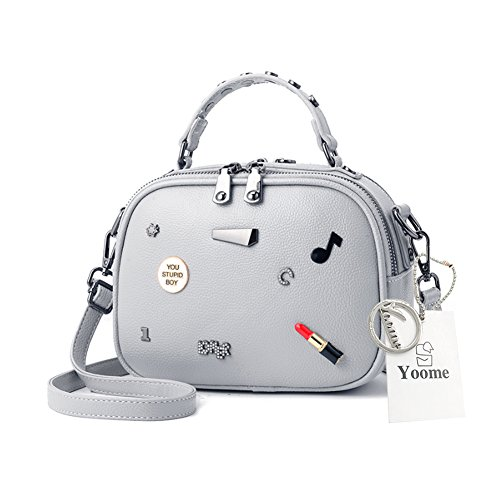 Yoome Niedlich Cartoon Dekoration Mini Schultertasche für Mädchen Satchel Handtaschen für Frauen Make-up
