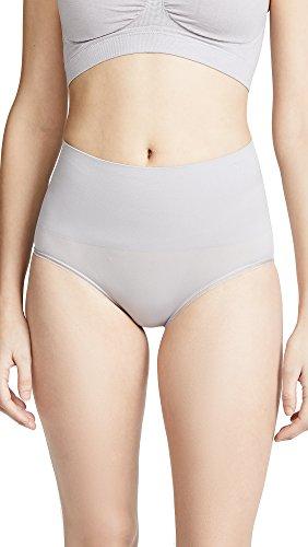 Yummie Women's Ultralight Seamless Shapewear Brief, Gull Grey, Small/Medium