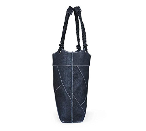 SHFANG Señoras Ocio bolso de cubo simple / bolso de cuero / bolso de hombro, bolso de mensajero, compras / viaje / trabajo , diagonal plaid black diagonal plaid black