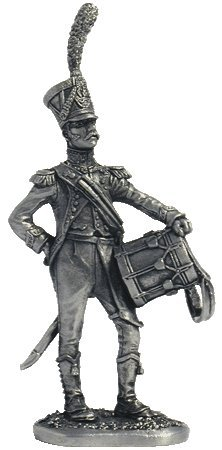 Tin Toy Soldiers Metal Sculpture Miniature Figure Collection 54mm N51 The drummer of light infantry France scale 1//32