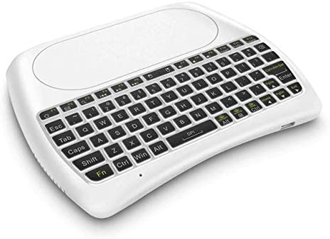 Mini D8-S 2.4G RGB Teclado inalámbrico con Touchpad ...