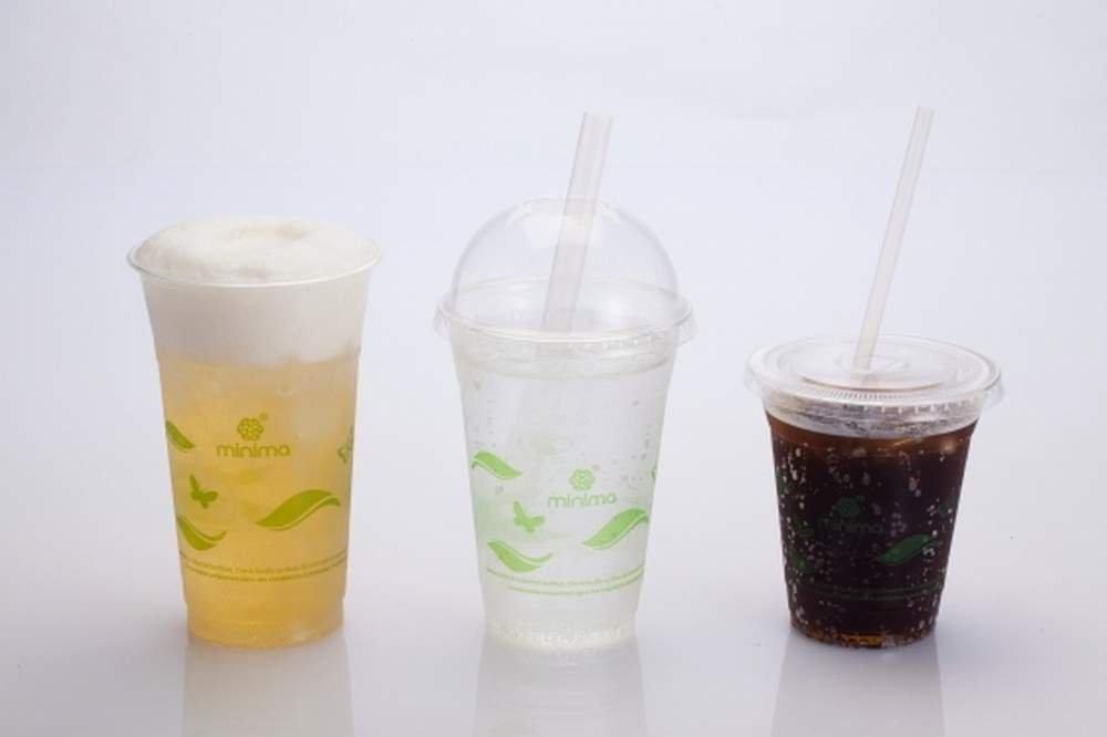 Minima 12 oz, 1000 Count Compostable Cold Cups – 100% BPI-CERTIFIED Compostable certified Drink Cups (Leaves Design)