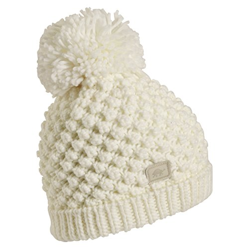 Turtle Fur Pop Up Women's Hand Knit Fleece Lined Pom Winter Hat White ()