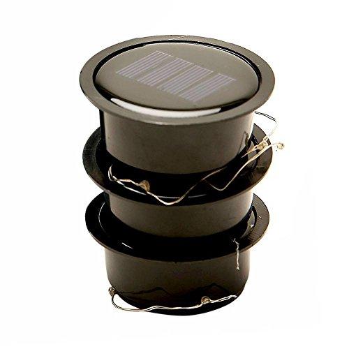 Kobwa 3 Pack Solar Mason Jar Lights,10 LEDs Multi-color Solar String Fairy Lights Lids Insert for Patio Garden,Wedding,Christmas Holiday Party Decorative Lighting
