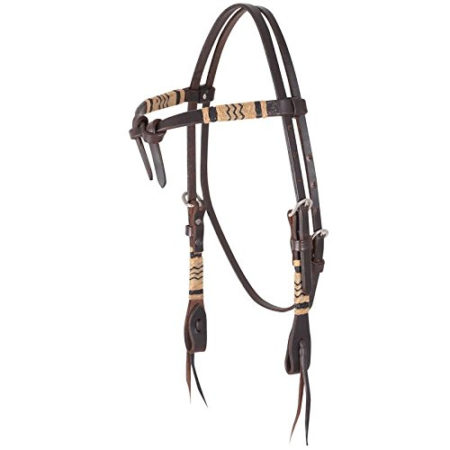 Martin Saddlery Rawhide Braided Tie Front Headstall Chocolate