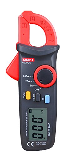 ZIBOO UNI-T ZB-UT210A 200A 2000 Conuts Mini LCD Electrical Leakage Current Clamp Meters