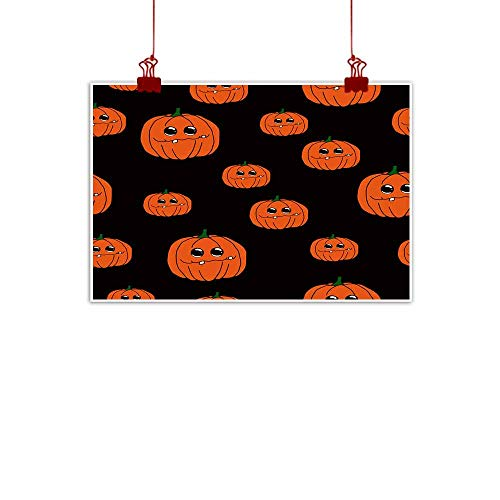 Mannwarehouse Light Luxury American Oil Painting Halloween Pumpkin Cartoon Seamless Pattern Home and Everything 24