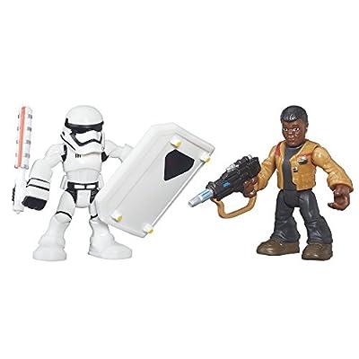 Playskool Heroes Galactic Heroes Star Wars Resistance Finn (Jakku) & First Order Stormtrooper