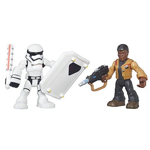 Playskool Heroes Galactic Heroes Star Wars Resistance Finn (Jakku) & First Order Stormtrooper (Black Stormtrooper Costume)
