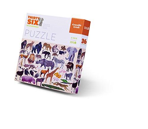 Crocodile Creek Thirty-Six Wild Animals 300Piece Jigsaw Puzzle