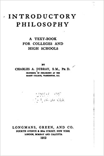 Book Introductory Philosophy, a Text-Book for Colleges and High Schools