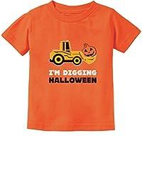 TeeStars - Pumpkin Face Tractor I'm Digging Halloween Cute Toddler Kids T-Shirt