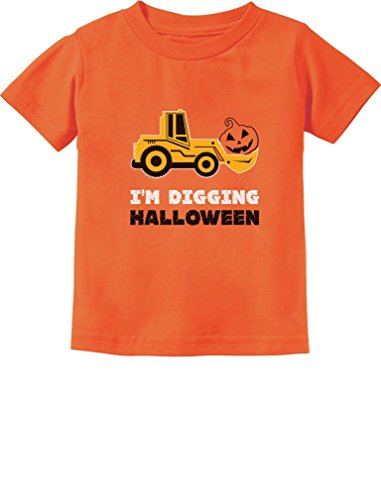 Toddler Halloween Shirts (TeeStars - Pumpkin Face Tractor I'm Digging Halloween Cute Toddler Kids T-Shirt 4T Orange)