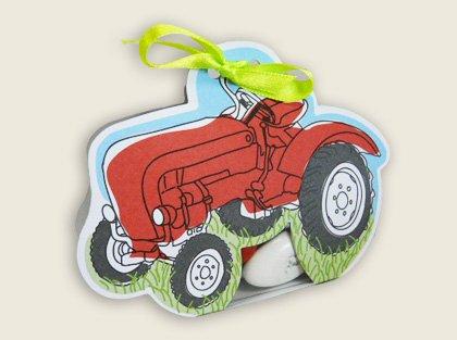 Lote de 5 - Recinto/Ballotin a Dragees Bapteme Tractor - para bautizo boda comunión - Ballotin de gominolas diseño y moderno: Amazon.es: Bebé