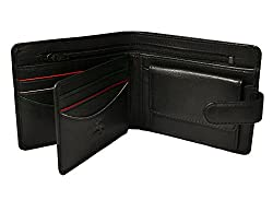 Visconti Sawgrass AG17 Mens Bi-fold ID Wallet Coin Pouch (Black) AUGUSTA COLLECTION
