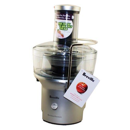 Breville BJE200XL Compact Juice Fountain 700-Watt Juice Extractor Home (Breville Juice Fountain Compact Electric Juicer)