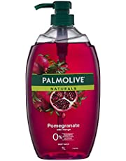 Palmolive Naturals Pomegranate with Mango Body Wash 0% Parabens Dermatologically Tested pH Balanced Recyclable Bottle 1L