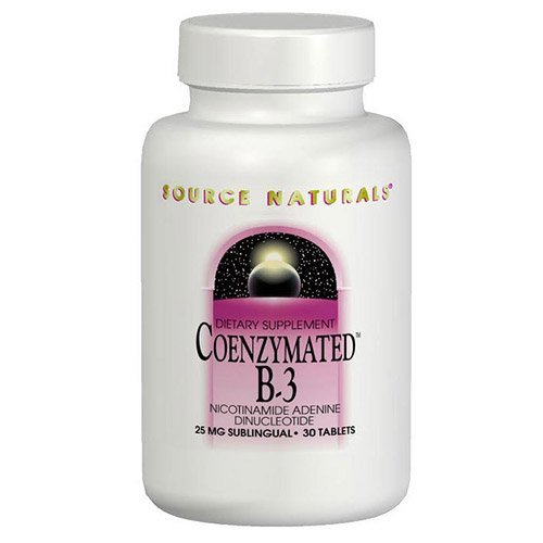 Source Naturals Coenzymated B-3 25MG, 30 (30 Sublingual Lozenges)