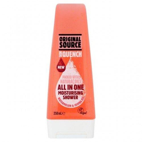 Jojoba Oil Moisturising Body Wash (Original Source Skin Quench All In One Moisturising Shower Gel - 250 ML Watermelon & Jojoba Oil)