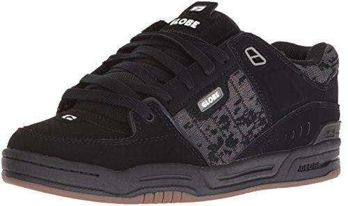 Globe Men's Fusion Skate Shoe, Black/Camo/Jacquard, 13 M US