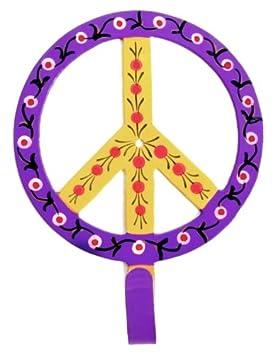 Ian Snow - Perchero pintado con símbolo de la paz, color ...