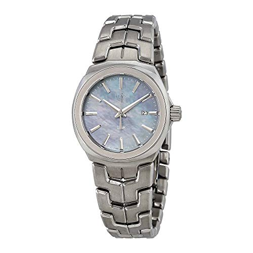 (Tag Heuer Link Blue Mother of Pearl Dial Ladies Stainless Steel Watch WBC1311.BA0600)