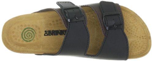 Dr. Brinkmann Mens 601835_Synthetik Mules Black (Schwarz/Mustang) I18usIt
