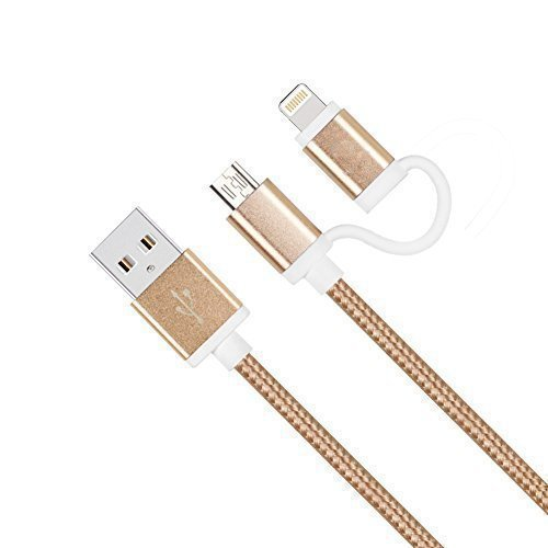 Mayshion 2 In 1 Smart Cable 3 3Ft Lightning Usb Cable 8Pin   Micro Usb For Iphone 6S   6S Plus  Iphone 6   6 Plus Iphone 5 5S 5C Samsung Galaxy S2 S3 S4 S6  Nokia Lumia  Htc One  Lg  Sony Xperi Black