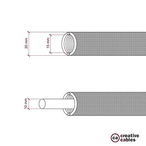 diam/ètre 20 mm Creative-Tube tube flexible avec rev/êtement Lin Naturel Gris RN02