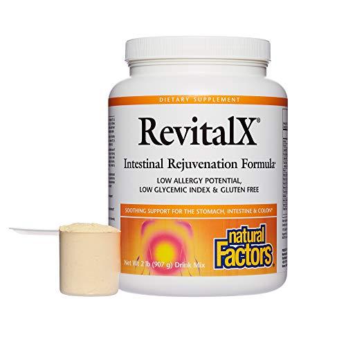 Natural Factors - RevitalX Powder, Intestinal Rejuvenation Formula, Low Glycemic Index and Gluten Free, 28 Servings (2 lb)