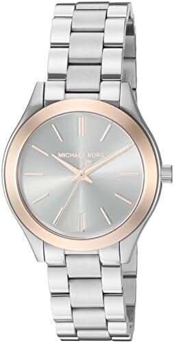 Michael Kors Women's Mini Slim Runway Silver-Tone Watch MK3514
