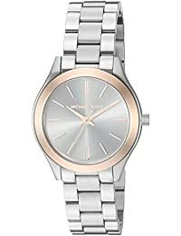 Women's Mini Slim Runway Silver-Tone Watch MK3514
