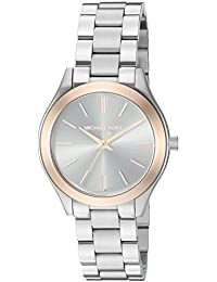 Michael Kors Women's MK3514 - Mini Slim Runway Silver