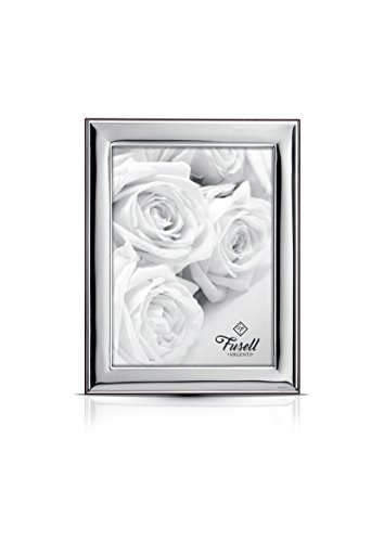 .925 STERLING SILVER Picture Frame. Mahogany Back (8'' x 10''). Made in ITALY by Sterling Touch
