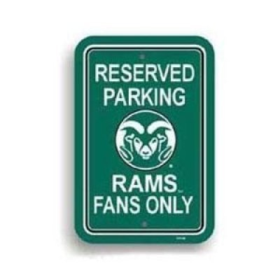 Colorado State Rams Plasitc Parking Sign by Fremont Die