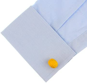 Ashton and Finch Yellow Builders Hard Hat Cufflinks in a Free Presentation Box Novelty Architects Construction Job Theme Jewellery