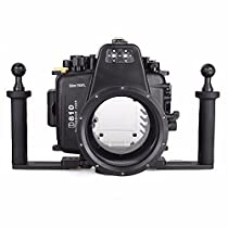 EACHSHOT Waterproof Underwater Camera Housing Case Diving Equipment 60m/195ft for Nikon D810 + Two Hands Aluminium Tray