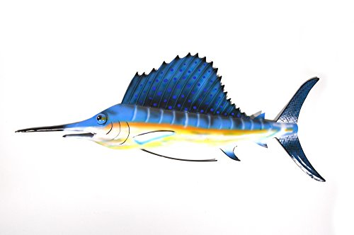 LFISH MARLIN SPORT FISH METAL WALL ART TROPHY (Sports Metal Art)
