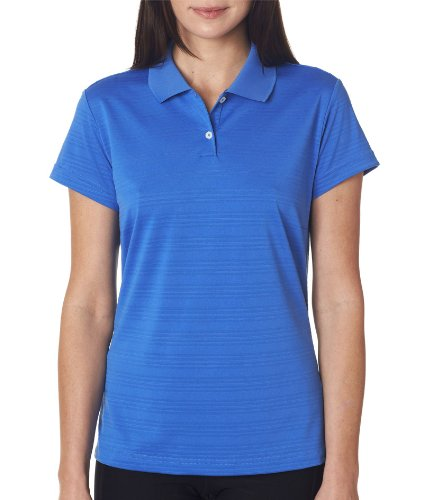 adidas-Golf-Ladies-ClimaLite-Textured-Short-Sleeve-Polo-Shirt