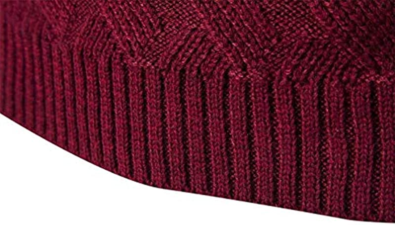 Męski sweter z długim rękawem casual okrągły dekolt sweter wycięcie wiosna prosty styl jesień moda swobodny sweter dziergany: Odzież