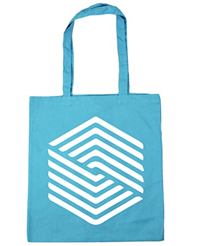 10 Bag Shopping Beach Gym 42cm HippoWarehouse Blue litres Surf x38cm Illusion Tote Square FYwTqxzBA