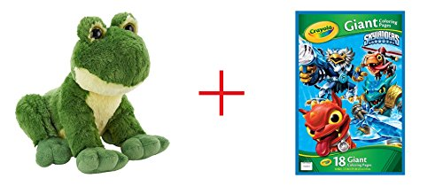 Toys R Us Plush 12 inch Frog - Green AND Skylanders Giant Coloring Page - Bundle