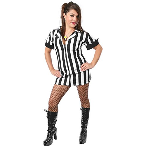 (Ladies Plus Size Sexy Referee Costume (Size: X-Large)