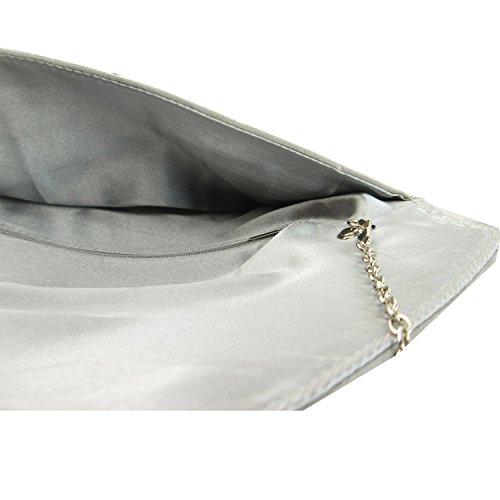 Sintetica Uk Busta Donna Sera Scamosciata In Pochette Pelle Grey Piatta London Media Da Xardi Cvxf4Fwgqn